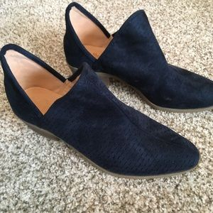 Shoes - Faux suede blue booties